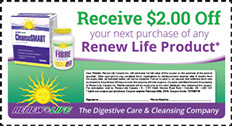 ReNew Life offers products and information on digestive health so you can live a longer, healthier life. Become a Renew Rewards member and start earning points with every purchase you make. Cash in those points for discounts or free products.